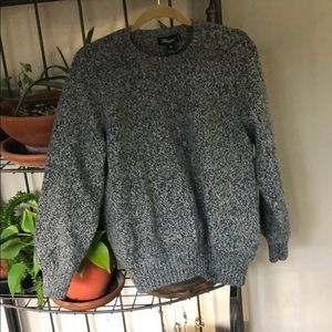 Speckled gray cozy sweater